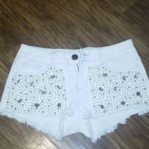 Studded short shorts